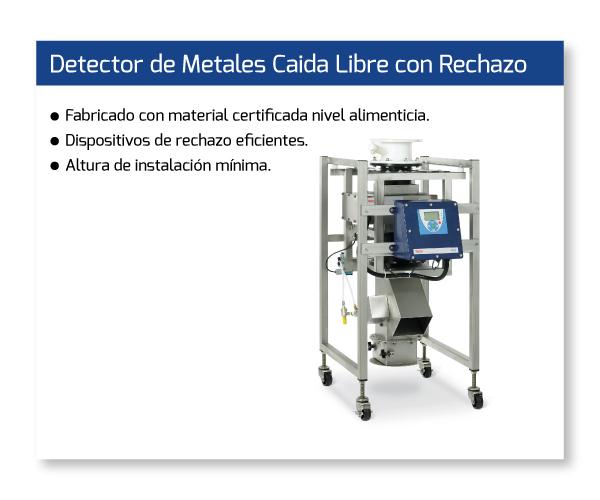 Detector de Metales Caida Libre con Rechazo